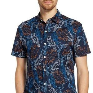 BONOBOS Riviera Electric Birds HAWAIIAN Shirt L